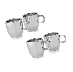 Dynore Set of 4 Double Wall Classic Cups