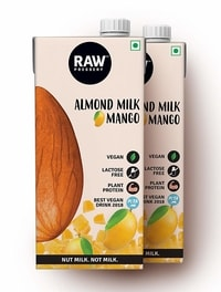Raw Pressery Almond Milk – Mango Tetra Pack 1 LTR (Pack of 2)