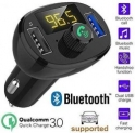 Die Hard CQLEK Universal Bluetooth FM Transmitter QC3.0 Dual USB Charger Radio Adapter Hands-free Car Kit Support U-Disk Music Play (Black)