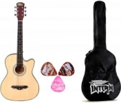 Intern INT-38C Natural Acoustic Guitar kit with carry bag & picks