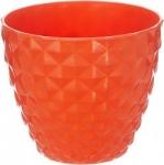 Klassic Plastic Cone Flower Pot Set (Orange, Pack of 6)