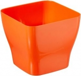 Klassic Plastic Table Top Square Pot Set (Orange, Pack of 6)