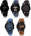 LK-1-2-5-7-8 Multicolor Designer pack of 5 Analog Watch – For Men