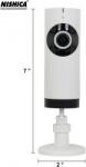 NISHICA V380-4 180 Degree Panoramic Vision Spy WiFi Camera (White)