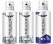 Park Avenue Signature – Voyage, Neo Deodorant Spray – For Men  (450 ml, Pack of 3)