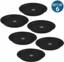 Trust basket UV Treated 5.3 inch Bottom Tray Plate/Saucer for 8-inch Plastic Pot (Black Color, Set of 6)