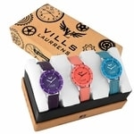 Vills Laurrens (VL-7119+7118+7139) Multi-Color Combo of 3 Analogue Watches for Women and Girls