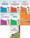 Olympiad Champs Science, Mathematics, English, Logical Reasoning, Cyber & GK Class 1 with 28 Mock Tests (set of 7 books)  (English, Paperback, Disha Experts)